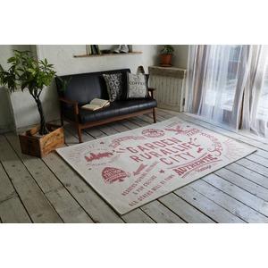 ゴブランシェニール ラグマット/絨毯 【190cm×190cm ピンク】 正方形 洗える スミノエ 『ルーラル』 〔リビング〕 - 拡大画像