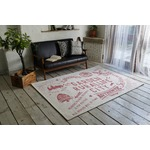 ゴブランシェニール ラグマット/絨毯 【ピンク】 正方形 洗える スミノエ 『ルーラル』 〔リビング〕