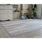 キシリトール 涼感ラグ/絨毯 【130cm×185cm ライトグレー】 長方形 日本製 綿混 『ホワイトホース』 〔リビング〕