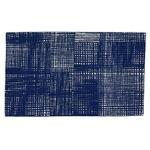 北欧 ラグマット/絨毯 【50cm×80cm ネイビー】 長方形 防滑 ルールッカ 『イヴァナヘルシンキ』 〔リビング〕