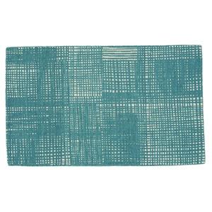北欧 ラグマット/絨毯 【50cm×80cm ブルー】 長方形 防滑 ルールッカ 『イヴァナヘルシンキ』 〔リビング〕