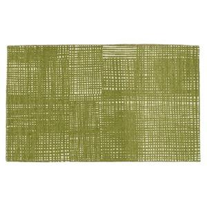 北欧 ラグマット/絨毯 【50cm×80cm イエローグリーン】 長方形 防滑 ルールッカ 『イヴァナヘルシンキ』 〔リビング〕