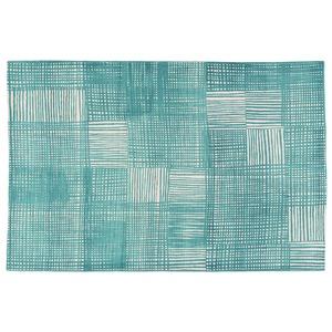 北欧 ラグマット/絨毯 【130cm×190cm ブルー】 長方形 防滑 ルールッカ 『イヴァナヘルシンキ』 〔リビング〕 - 拡大画像
