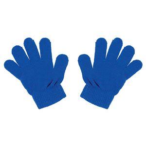 (まとめ)カラーのびのび手袋 コバルトブルー 【×10個セット】 - 拡大画像