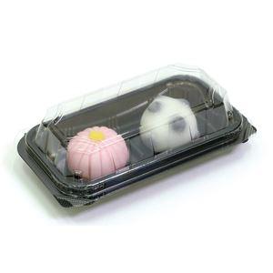 (まとめ)和菓子ケース(2個用) 10個入り 【×10個セット】 - 拡大画像
