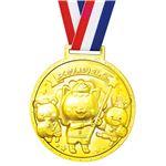 (まとめ)ゴールド3Dスーパービッグメダル フレンズ 【×10個セット】