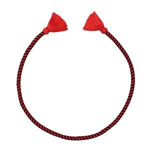 (まとめ)かんたんねじりはちまき 赤/黒 【×10個セット】 - 拡大画像