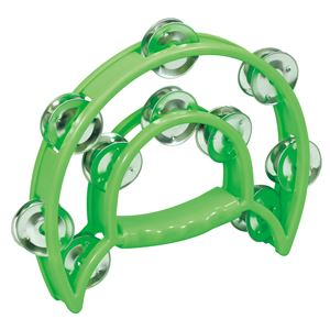 (まとめ)ダンスタンバリン 緑 【×10個セット】 - 拡大画像
