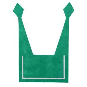 (まとめ)セーラーえり 緑 【×10個セット】 - 拡大画像