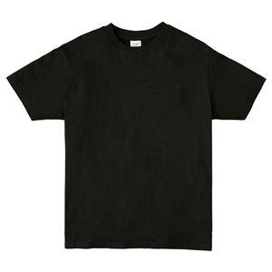 (まとめ)ATドライTシャツ 150cm ブラック 150g ポリ100% 【×10個セット】 - 拡大画像