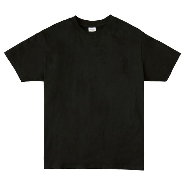 (まとめ)ATドライTシャツ 150cm ブラック 150g ポリ100% 【×10個セット】