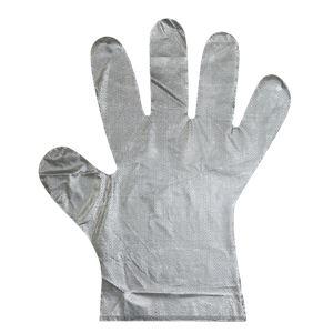(まとめ) 子ども用 ビニール手袋/使い捨て手袋 【100枚入り 1箱】 エンボス加工 【×10セット】 - 拡大画像