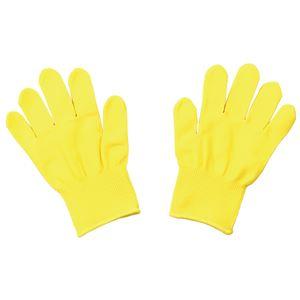 (まとめ)カラーライト手袋 黄【×20セット】 - 拡大画像