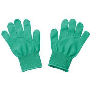 (まとめ)カラーライト手袋 緑【×20セット】 - 拡大画像