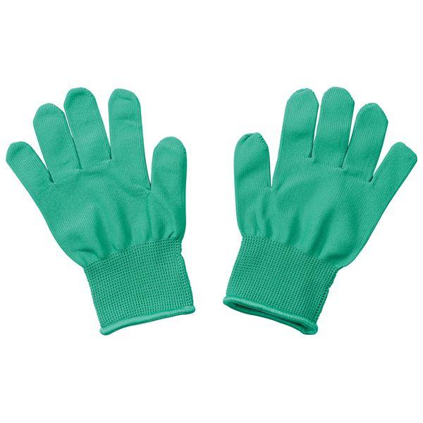 (まとめ)カラーライト手袋 緑【×20セット】
