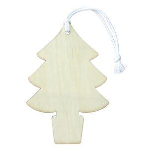 (まとめ)木製オーナメント クリスマスツリー【×20セット】 - 拡大画像