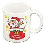 (まとめ)クリスマスマグカップ サンタ&トナカイ【×20セット】