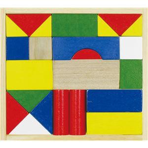 (まとめ)カラフル木製つみき(ケース入)【×10セット】 - 拡大画像