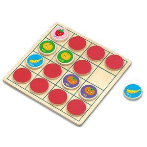 (まとめ)リバーシ&えあわせパズル フルーツ【×10セット】 - 拡大画像