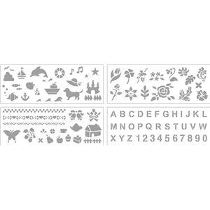 (まとめ)ステンシルマグ型紙ノーカットタイプB5 10枚組【×5セット】 - 拡大画像