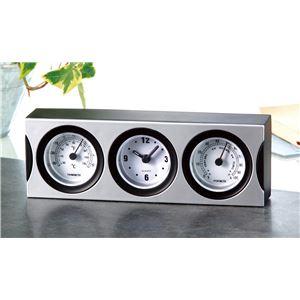 (まとめ)温湿度計付クロック【×20セット】 - 拡大画像