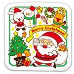 (まとめ)クリスマスタオルハンカチ(サンタとゆかいななかまたち)【×50セット】
