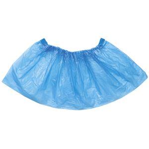 (まとめ) 使い捨て ビニール製靴カバー (100枚入) ブルー 【×10セット】 - 拡大画像