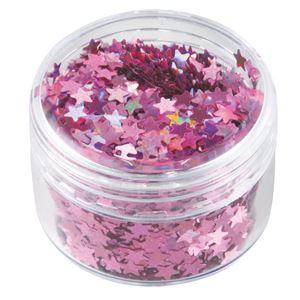 (まとめ) ホログラムグリッター星 3mm ピンク 【×30セット】 - 拡大画像