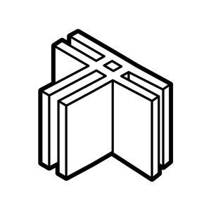 (まとめ)T字型固定パーツ2個組 【×20個セット】 - 拡大画像