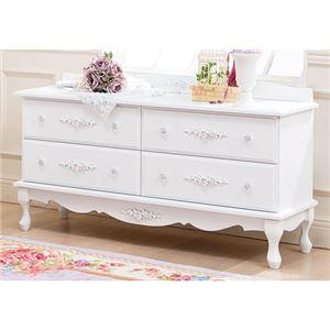 ピュアホワイトアンティーク飾り家具 5: ローチェスト - 拡大画像