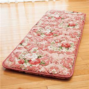 固わた入り 大判ごろ寝 長座布団 (70cm×180cm) 日本製 ピンク - 拡大画像