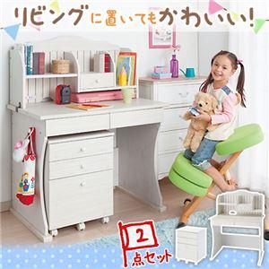 キッズ家具(ファニチャー) アイボリー×木目デザインのナチュラル感が可愛いデスク♪ 大人になっても使えるデザインのキッズデスク