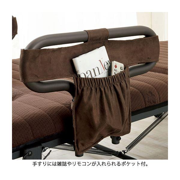 ボリューム折りたたみベッド シングル キャスター付き【完成品】