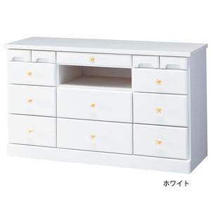 大容量リビングボード(テレビ台/サイドボード) 木製 【4: 幅82cm×高さ48cm】 24型〜37型対応 ホワイト(白)