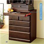 仏壇台チェスト 置き台 幅60cm×奥行42cm 木製 スライドテーブル/引き出し収納付き