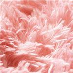 さらふわシャギーラグマット(ホットカーペット対応) 【正方形/約185cm×185cm】 ベビーピンク