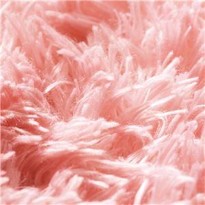 さらふわシャギーラグマット(ホットカーペット対応) 【長方形/約185cm×240cm】 ベビーピンク