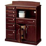 ファックス台/電話台 「全段鍵付き家具シリーズ」 【幅72cm】 木製 スライドテーブル付き
