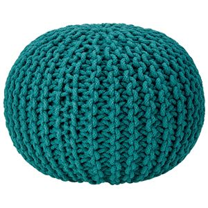 座れるクッション/ボールクッション 「コロン」 ブルー 直径45cm×高さ30cm 表地:インド綿100%  - 拡大画像