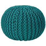 座れるクッション/ボールクッション 「コロン」 ブルー 直径45cm×高さ30cm 表地:インド綿100%