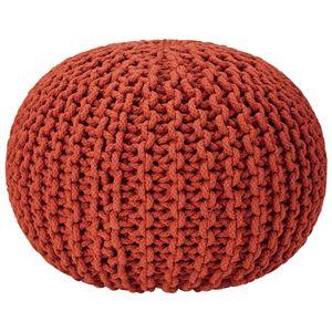 座れるクッション/ボールクッション 「コロン」 レッド 直径45cm×高さ30cm 表地:インド綿100%  - 拡大画像
