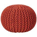 座れるクッション/ボールクッション 「コロン」 レッド 直径45cm×高さ30cm 表地:インド綿100%