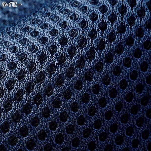 低反発折りたたみベッド 【セミシングルサイズ/ネイビー】 幅83cm キャスター付き 背部14段階リクライニング