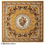 ベルギー製ウィルトン織カーペット/絨毯 【王朝ベージュ 3畳 約160cm×230cm】 長方形 〔リビング・玄関・ダイニング〕