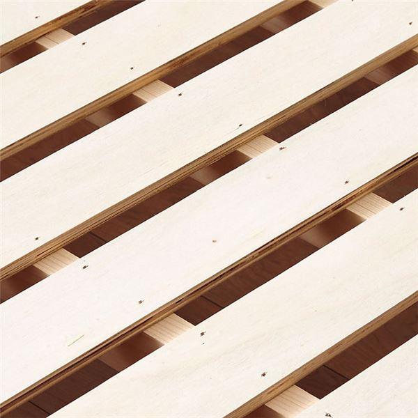 照明付き 宮付き 天然木すのこベッド 折りたたみすのこ ベッドフレーム画像02