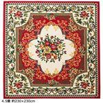 2柄3色から選べる!ウィルトン織カーペット(ラグ・絨毯)王朝レッド