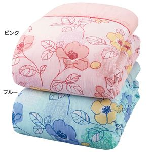 ガーゼ肌掛布団 【シングル2色組 ピンク×ブルー】 日本製 綿100% 抗菌 防臭 防ダニ テイジン マイティトップ使用
