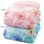 日本製綿100%ガーゼ肌掛布団 ダブル2色組(ピンク・ブルー)