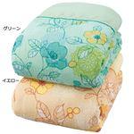 日本製綿100%ガーゼ肌掛布団 ダブル2色組(グリーン・イエロー)