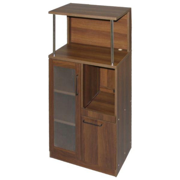 復活!ダイニング周りを纏める「キッチンなんでも収納庫/キッチン収納 【ダークブラウン 幅59.8cm】 天板 スライドテーブル付き」